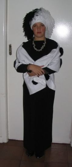 Cruella DeVille costume for book week