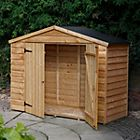 View 7X3 Overlap Wooden Bike Store & Easy Fit Roof details
