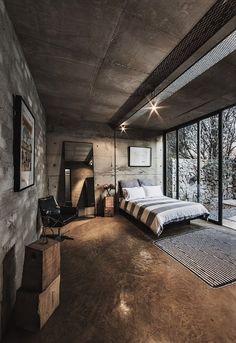 Trendy industrial style bedroom, Celtis House - #centurion #pretoria
