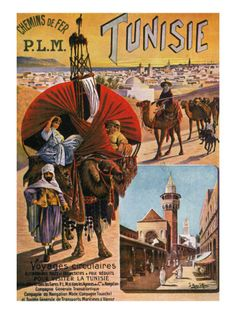 tunisia travel poster 1892 Canada - for game fish! Vintage travel poster ERGObaby Travel Collection - Stowaway - Olive Or take my lead and m. Retro Poster, New Poster, Vintage Travel Posters, Vintage Ads, Tunisia Travel, Posters Uk, Tourism Poster, Travel Ads, Train Travel