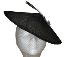 Lulu Couture Sinamay Coolie Hat / Fascinator by DeborahWaltonHats, £220.00