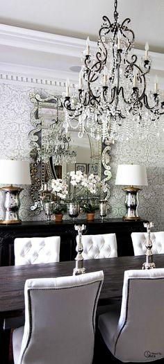 comedor de la lámpara del papel pintado blanco decorar con pelo insertado tachonado sillas mejor en cálidos tonos plata biblia