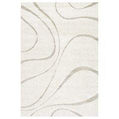 Sculpted swirls and a tonal ivory color palette make this nuLOOM Carolyn Indoor Area Rug a sophisticated style foundation for your room. This area rug. Grey Shag Rug, Florida, Cream Area Rug, Contemporary Area Rugs, Modern Contemporary, Danish Modern, Modern Design, Area Rug Sizes, Throw Rugs