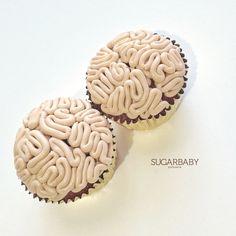 Human Brain Cupcakes