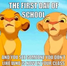 day of School Memes Simba Lion King funny first day of school funny disney meme lion king Funny Disney Jokes, Disney Humor, Funny Animal Jokes, Disney Quotes, Funny Jokes, Hilarious, Disney Memes Clean, Funny School Memes, Crazy Funny Memes
