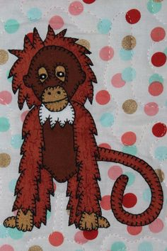 Orangutan PDF applique pattern zoo animal by MsPDesignsUSA on Etsy