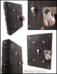 Bird Skull Book with lock. by MilleCuirs.deviantart.com on @deviantART