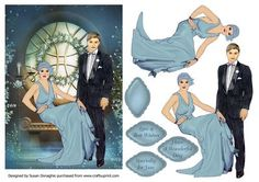 Art Deco Lovers by Candlelight on Craftsuprint designed by Susan Donaghie - A…