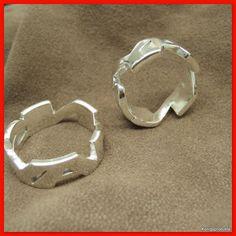 1 Paar Eheringe, Trauringe als Namensring in 925er Silber