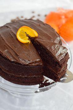 Dark Chocolate Orange, Dark Chocolate Cakes, Best Chocolate, Delicious Chocolate, Chocolate Heaven, Orange Glaze Recipes, Orange Juice Cake, Sweets Cake, Gluten Free Chocolate