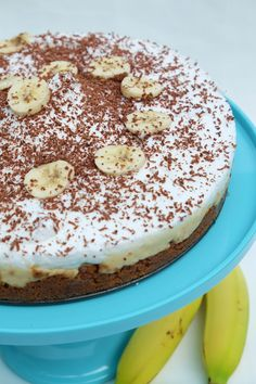 Bananen chocoladetaart
