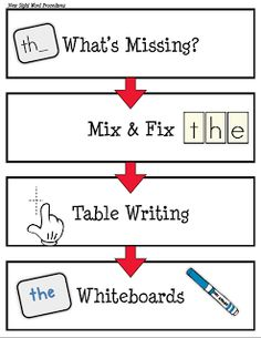 free visual for sight word letter review (from The Next Step in Guided Reading)