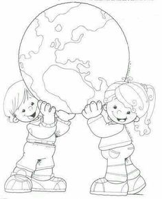 Earth Day Drawings on Earth Day 2019 - 22 April 2019 Earth Day Coloring Pages, Colouring Pages, Coloring Sheets, Adult Coloring, Coloring Books, Earth Day Crafts, Earth Day Activities, Thinking Day, Child Day