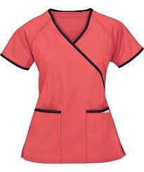 UA Best Buy Scrubs Contrast Mock Wrap Top in royal and black because the CMA program students are royal blue but we were told as long as we wore scrubs we could wear whatever color/style we want to. Scrubs Outfit, Scrubs Uniform, Spa Uniform, Cute Nursing Scrubs, Healthcare Uniforms, Buy Scrubs, Medical Scrubs, Scrub Tops, Black Tops