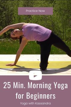 Start your day right with this 25 minute morning yoga class for beginners to improve flexibility and strength. We'll begin our yoga flow with mindful movement and breathing exercises to practice gratitude and joy and then move into our energizing yoga flow, yoga asanas, and yoga poses. Click through to enjoy this morning yoga routine for beginners and all levels. Learn yoga at home   online yoga classes   best yoga online   morning yoga stretches Morning Yoga Stretches, Morning Yoga Flow, Morning Yoga Routine, Yoga Routine For Beginners, Yoga For Stress Relief, Online Yoga Classes, Learn Yoga, Yoga For Flexibility, Yoga At Home