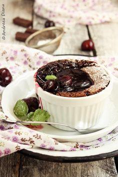 Pasiune pentru bucatarie- Retete culinare - Pagina 86 din 194 - Chocolate Cherry Cake, Cupcake Cakes, Cupcakes, Pudding, Sweet, Desserts, Cherries, Food, Drinks