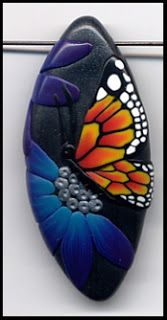 Jael's Art Jewels Blog: Cat Therien's Butterfly cane inspiration