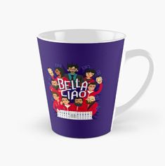 'Bella Ciao' Mug by Risa Rodil Coffee Mugs, Money, Tableware, Classic, Dinnerware, Coffee Cups, Coffee Cup, Porcelain, Coffee Mug