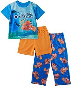 Disney Toddler Boys Finding Nemo Toddler 3 piece Pajama Set #YankeeToyBox #AmazonPrime #PrimeShipping #FindingDory #Disney #Dory