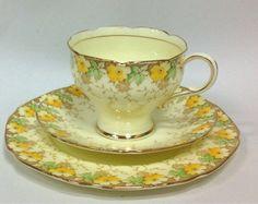 Paragon Garland Art Deco English Vintage China Tea Set Tea Cup Trio | eBay