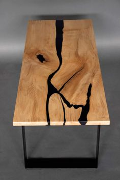 Resin River Coffee Table live edge table live edge epoxy