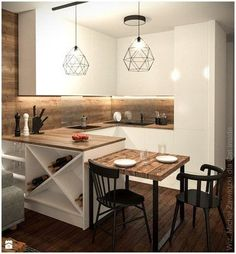 There is no question that designing a new kitchen layout for a large kitchen is much easier than for a small kitchen. A large kitchen provides a designer with adequate space to incorporate many convenient kitchen accessories such as wall ovens, raised. Kitchen Room Design, Kitchen Corner, Modern Kitchen Design, Home Decor Kitchen, Kitchen Living, Interior Design Kitchen, Kitchen Furniture, New Kitchen, Home Kitchens