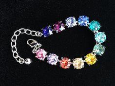 Swarovski Crystal Rainbow Bracelet on Etsy, $25.00