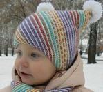 Мобильный LiveInternet Детская шапочка и шарфик «По диагонали» Автор И. Фибих | tata-bel-62 - Дневник Татьяны Беляковой |