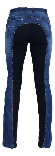 Damen Jodhpur Reithose Vollbesatz Summer Denim HKM jeansblau/dunkelblau NEU | eBay