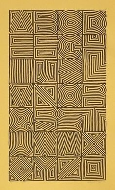 Calligraphy and Lettering Design- Broadsides & Books. Maze alphabet by Sally Wightkin.
