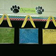 An easy way to post objectives or to use for dismissal Posting Objectives, Classroom Objectives, Classroom Routines, 2nd Grade Classroom, Classroom Setting, Classroom Decor, Classroom Organization, Classroom Management, Focus Boards