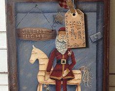 Vintage Pink Silent Night Christmas Ornament by TinselandTrinkets