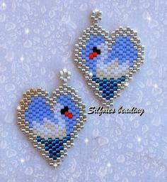 Silfoxes Beading Seed Bead Crafts, Seed Bead Projects, Beading Projects, Seed Bead Jewelry, Beading Tutorials, Beaded Earrings Patterns, Peyote Patterns, Jewelry Patterns, Beading Patterns