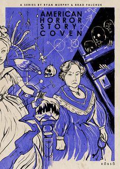 American Horror Story: Coven by Roberto Sánchez, via Behance
