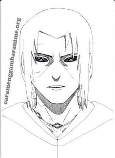 How to draw itachi uchiha face, step 8 done , , ,