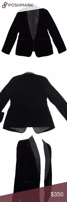 Velvet Black Blazer Made to your measurements You read it, this blazer can be custom made to fit your measurements!   Fabric: Velvet  Lining: Silk  *Comes with pockets*   How it works, submit your measurements on the link below or e-mail it to us.   https://justfitsme.com/pages/how-to-measure  This will take 3 weeks to ship. Just Fits Me Jackets & Coats Blazers