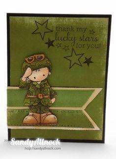Sandy Allnock - AnyHero Whipper Snapper Designs - Military Boy Stamp