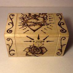 Loteria Pyrography Keepsake Box by AngelCityArts on Etsy, $15.00