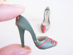 Miniature High Heel Shoes - Handmade from Polymer Clay