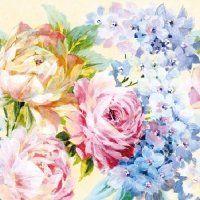 Painted Flowers Decoupage Napkins - Serviettes | Decoupage Designs USA