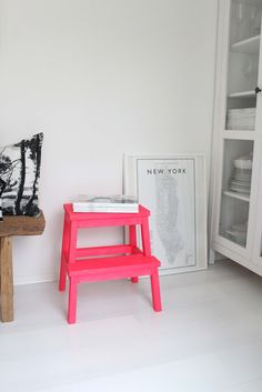 DIY idea: small bright stool