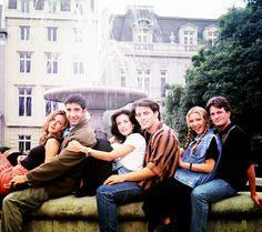 Friends. Starring Jennifer Aniston, Courteney Cox, Lisa Kudrow, David Schwimmer, Matt LeBlanc, Matthew Perry.