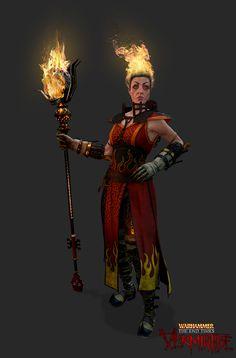 Bright Wizard Character Render. Warhammer Vermintide