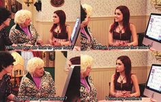 """Cat valentine is awesome,she is hilarious and ridiculous sometimes . You just think """"O my gosh cat"""" because she does the weirdest things. Victorious Tv Show, Victorious Cat, Victorious Nickelodeon, Cat Valentine Victorious, Victorious Quotes, Sam E Cat, Funny Memes, Hilarious, Funny Gifs"""