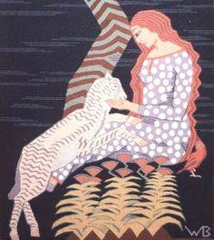 Wanda Bibrowicz (1878-1954),Girl with Lamb, 1920