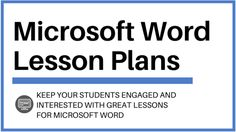 "Computer applications teachers are always looking for new and exciting ways to teach Microsoft Word to their students. For each of these teachers, a common question is ""Where can I find great Micro..."