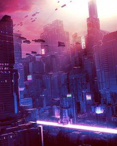 Cyberpunk Aesthetic, Cyberpunk City, Futuristic City, Vaporwave, Positive Energie, Space Story, Best Graffiti, Tokyo Streets, Science Fiction Art