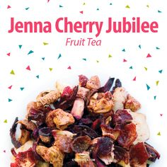Jenna Cherry Jubilee, Fruit Tea. An infusion of fresh cherries and fruit. As a delightful bonus, every time we sell a 3.52 oz (100g) bag, we donate $1 to the Juvenile Diabetes Research Foundation! www.mysteepedteaparty.com/kendrabrown
