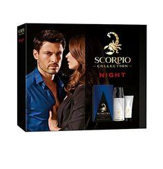 Scorpio Collection Night Coffret pour Homme Eau de Toilette 75 ml + Déodorant Atomiseur 150 ml + Gel Crème pour Visage 50 ml
