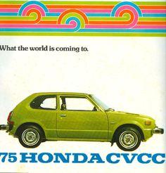 casey/artandcolour: Original Dealer Brochures From the Seventies; It Was the Best of Times, It Was the Worst of Times casey/artandcolour: Original Dealer Brochures From the Seventies; It Was the Best of Times, It Was the Worst of Times Retro Ads, Vintage Advertisements, Vintage Ads, Soichiro Honda, Honda Civic Hatchback, Honda Motors, Japanese Cars, Vintage Japanese, Honda Cars